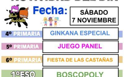 FORMULARIO de INSCRIPCIÓN – ACTIVIDADES 07/11/20