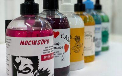 Etiquetas para dispensadores de jabón de manos