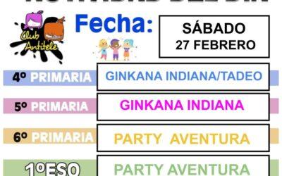 FORMULARIO DE INSCRIPCIÓN ACTIVIDADES SÁBADO 27 DE FEBRERO