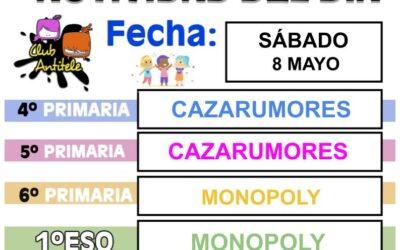 FORMULARIO INSCRIPCIÓN SÁBADO 8 DE MAYO