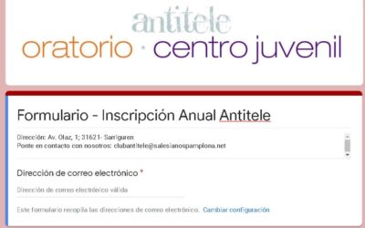 INSCRIPCIÓN GENERAL ONLINE 2020-2021 –  CLUB ANTITELE